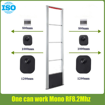 Mono RF8.2Mhz eas security system for clothing store sholifting prevention no connection cable needed easier install