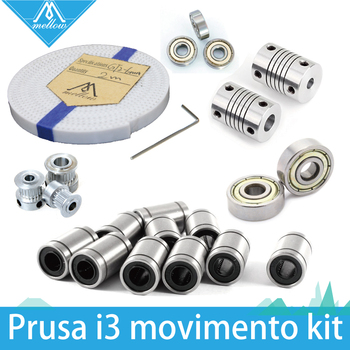 3d printer reprap prusa i3 movement kit GT2-6mm PU with steel GT2 belt pulley 608zz bearing lm8uu 624zz bearing