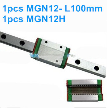1pcs MGN12 L100mm linear rail + 1pcs MGN12H