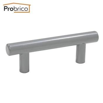 Probrico 10 PCS Grey Kitchen Cabinet Handle Stainless Steel Diameter 12mm Hole to Hole 64mm Furniture Drawer Knob