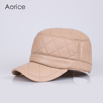 HL067 genuine leather baseball cap/hat brand new men's real leather adjustable army caps/hats with 3 colors
