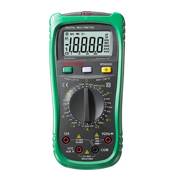 MASTECH MS8260D 4 1/2 Digital Multimeter Non-contact AC/DC Voltage Current Frenquency Tester Detector with Transistor Check