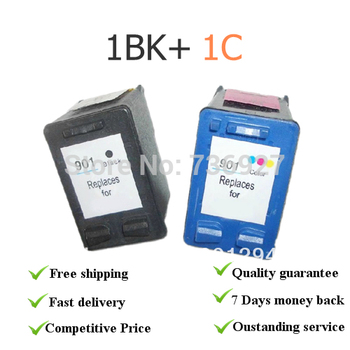 One set for hp901BK+C Remanufacured ink cartridges  CC653 AC CC656AC for hp Officejet J4580/J4640/J4680/J4660