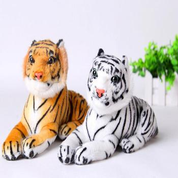 1pc 26cm Cute Plush White Snow Tiger Toys Stuffed Dolls Animals Pillows Childs Baby Kids Gifts Birthday Gift