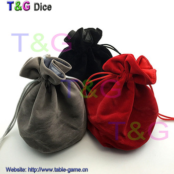 TOP Quality Dice bag Jewelry Packing Velvet bag 6*5.5