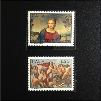 Italy postage stamp Raphael paintings stamp postage collections 2 pieces per bag