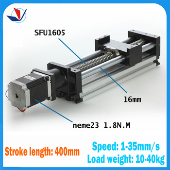 2017 For Kossel Mini Linear Rail Cnc Kit Linear Slide Stage Travel Length 400mm Table Sfu1605+ Nema23 Stepping Motor For Cnc