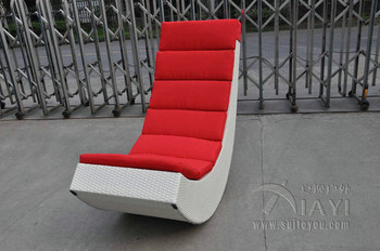 Rattan Rocking Chair , Aluminum Frame Comfortable Rocking Sofa transport by sea
