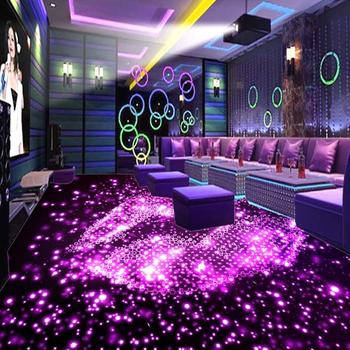 Custom 3D Floor Wallpaper 3D Stereo KTV Bar PVC Floor Murals Self-adhesive Waterproof Wallpaper Wall Painting Papel De Parede