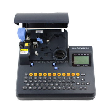 PVC Tube Printer S-650 Shrinkable Tube Electronic Lettering Machine Shrinkable Cable ID Printer Wire Marking Machine