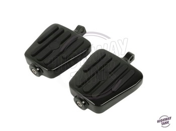 2 Pcs Black Male Mount Footboards Motorcycle Foot Pegs Footrests case for Harley Dyna Softail Sportster