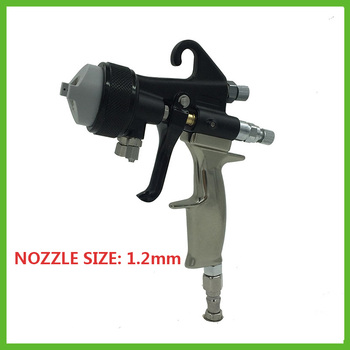 SAT1205 dual action airbrush foam sprayer mirror chrome spray paint double nozzle high pressure spray gun pneumatic machine tool