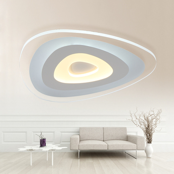 New Ultra thin modern LED ceiling lights Creative arc triangle acrylic lamp home flush mount ceiling lights deckenleuchten