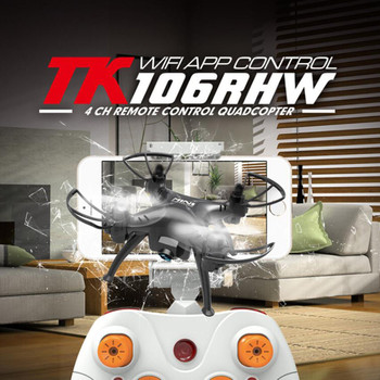 Quadcopter Skytech TK106RHW Mini Drone 2.0MP Camera FPV with Headless Mode 3D Flips Function RC Quad Copter RTF