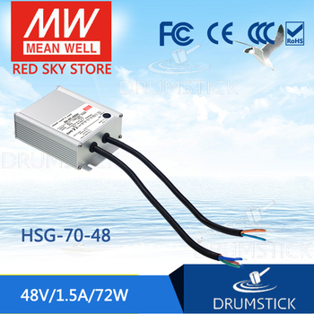 Genuine MEAN WELL HSG-70-48 48V 1.5A meanwell HSG-70 48V 72W Single Output LED Driver Power Supply