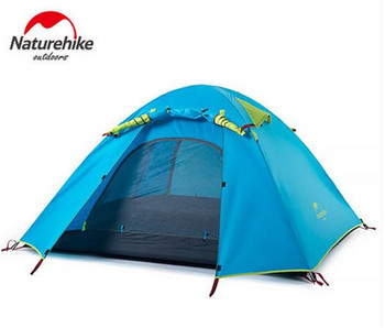 NatureHike 3-4 Person Tent New Arrived Double Layer Outdoor Camping Hike Travel Tent Aluminum Pole Camping Tents