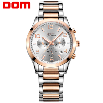 DOM mens watches top brand luxury waterproof mechanical man Business man reloj hombre marca de lujo Men watch M-812