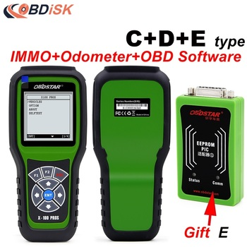 2017 Original OBDSTAR X100 PROS C+D+E model for IMMO+Odometer+OBD Software X-100 pros C Type+D Type+EEPROM Adapter DHL FREE