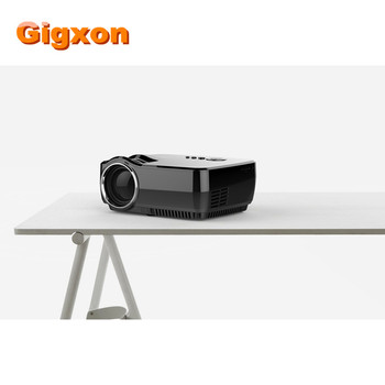 Gigxon - G700 Full HD Mini Portable Projector GP70 Home Theater mini projector with Resolution native 800*480