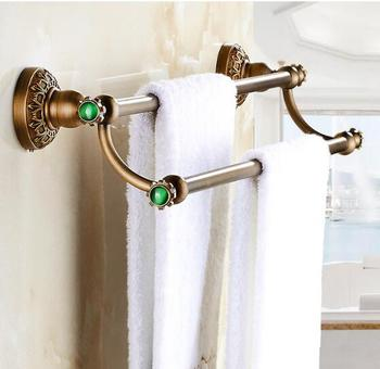 Antique double Towel Bar,Luxury Towel Holder, Towel rack Solid Brass Made Bathroom Accessories Towel Rail