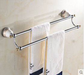 Double Towel Bar,Towel Holder, Towel rack Solid Brass Made Gold Finish
