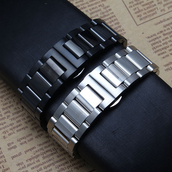 Watchband 18mm 20mm 22mm 24mm for common watches straighe end butterfly buckle watch accessories new fit smart hot