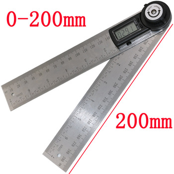 Electronic Digital Angle Gauge Stainless Steel Angle-protractor Square Woodworking Angulometer Universal Angle-ruler