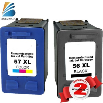 Bosumon Ink Cartridge for HP56 57 compatible with Officejet 450Ci/450Cbi/450wbt/5160/5550/5650/5652/9600/9650/9680Printer(a set)