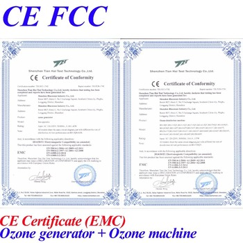 CE EMC LVD FCC home and office ionizer