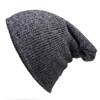 Unisex Winter Hats for Women Men Solid Color Knitted Hats Cotton Brief Style Cap Beanie Balaclava Thicken Fashion 7 Colors Caps