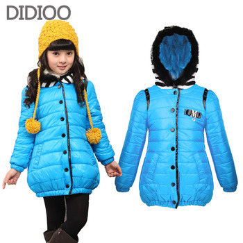 Children winter coats for girls overcoat child parka warm outwear for kids clothes thicken girl cotton-padded jacket 4-12 years