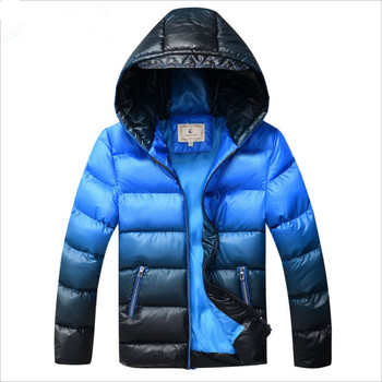 Boys Winter Coat Padded Jacket Outerwear For 8-17T Fashion Hooded Thick Warm Children Parkas Overcoat 2017 New
