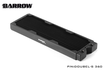Barrow Doubel-s 360mm Double Fin Copper Radiator Water Cooling