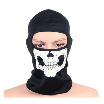 Full face Motorcycle skullies Ghost mask hat Windproof breathable Caps man Bicycle masks Bike Balaclavas hats men cap Beanies