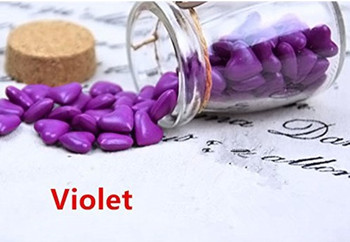 Vintage 90pcs Violet Heart Shape Bottled Glass for Wax Seal Sealing Stamp Wedding Invitations Adhesive Wax Sticks Beads