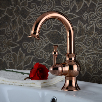 DONA4711 Solid brass golden basin faucet with 360 degree rotation rose gold bathroom basin mixer tap