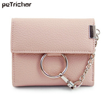2017 Women Short Wallets Card Holder Hasp Synthetic Leather Fashion Money Purse Casual Coin Pocket for Female
