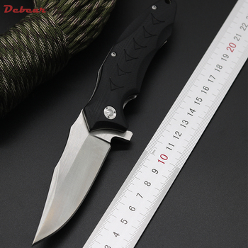 Dcbear Tactical Folding Knife With 440 Blade G10 Handle Ball Bearing Flipper Outdoor Camping Knife Multi EDC Tools
