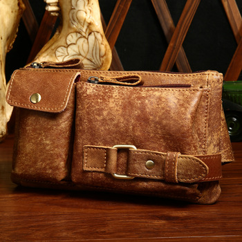 Genuine Leather Chest Bags Man Outdside Crossbody Shoulder Bag Cowhide Leather Fashion Men Chest Pack bolsa masculina