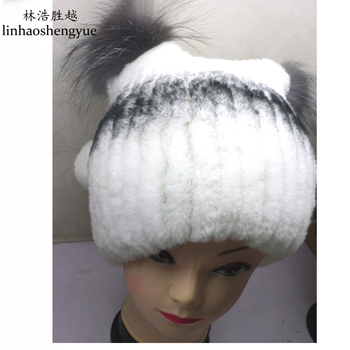 Linhaoshengyue Advanced weaving in Europe and the new style of otter fur cap real fur women hat ping