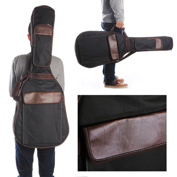 Black Folk Acoustic Guitar Gig Bag Case PU Padded Waterproof for 39 40 inch guitar accessories Hand Shoulder Canvas Accessories