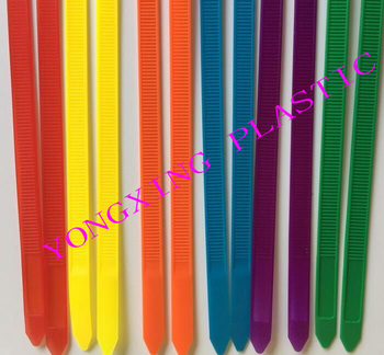 50Pcs/pack 8*250mm width 7.6mm colorful Factory Standard Self-locking Plastic Nylon Cable Ties,Wire Zip Tie