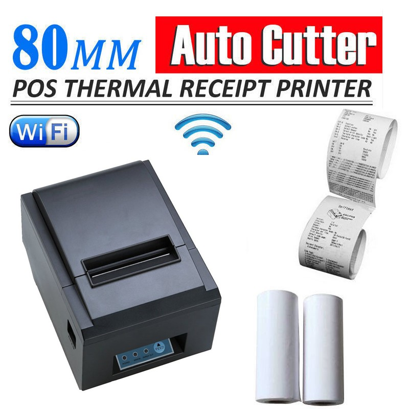 Wireless 300mm/sec 80mm Auto Cut Wifi POS Thermal Receipt Barcode Label Printer_DHL