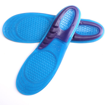 Silicone Sneaker Shoes Insole Soft Shock-Absorbant Breathable Shoe Pad For Sports Shoes Free cut insoles