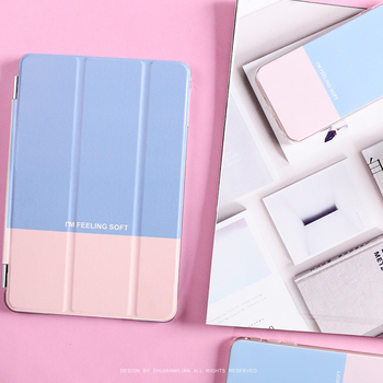 For New iPad 9.7 2017 Korea Simple Hit Color Flip Cover For iPad Pro 9.7