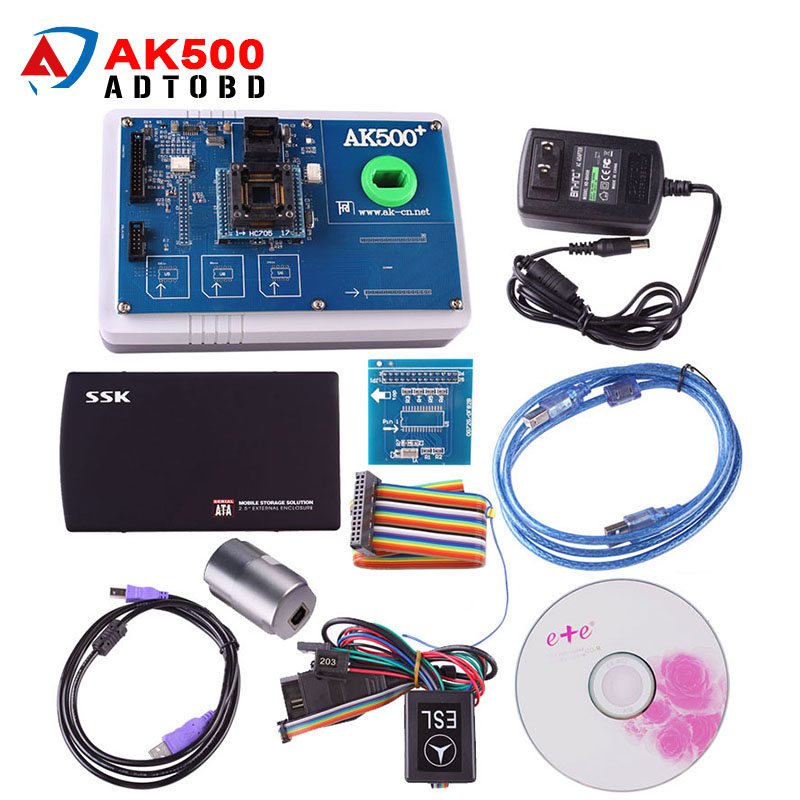 Newest AK500 Pro AK500 Key Programmer for Mercedes Benz With EIS SKC Calculator and HDD Full Set DHL