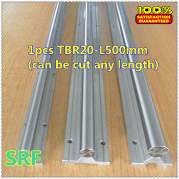 1pcs 20mm TBR20 L=500mm(can be cut any length) linear guide shaft rail for CNC chrome plated quenching hard guide shaft