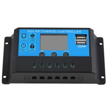 2pcs Solar Controllers New 10A 12V/24V TX-10BL Solar Charge Controller 2 USB Ports LED Display