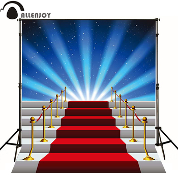 Allenjoy photographic background Stage Star red carpet stairs photo backdrops photography fantasy professional fabric