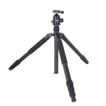 Carbon fiber professional Tripod With Ball head Portable Travel DSLR Camera detachable Max Load to 20Kg
